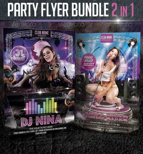 GraphicRiver Party Flyer Bundle 2in1