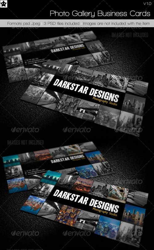 GraphicRiver Photo Gallery Business Cards