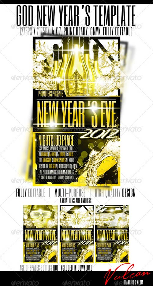 GraphicRiver GOLD 2012 Flyer Template