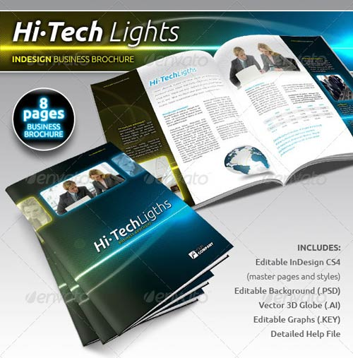 GraphicRiver Hi-Tech Lights Business Brochure