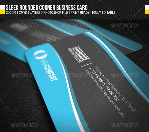 GraphicRiver Sleek Rounded Corner Business Card