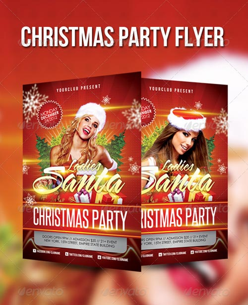 GraphicRiver Christmas Party Flyer Template 3344323