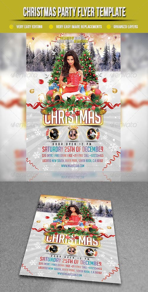 GraphicRiver Christmas Party Flyer Template 3477501