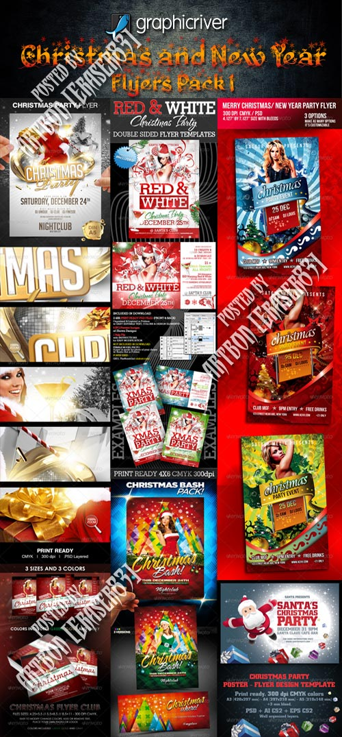 GraphicRiver Christmas and New Year Flyers Collection 1
