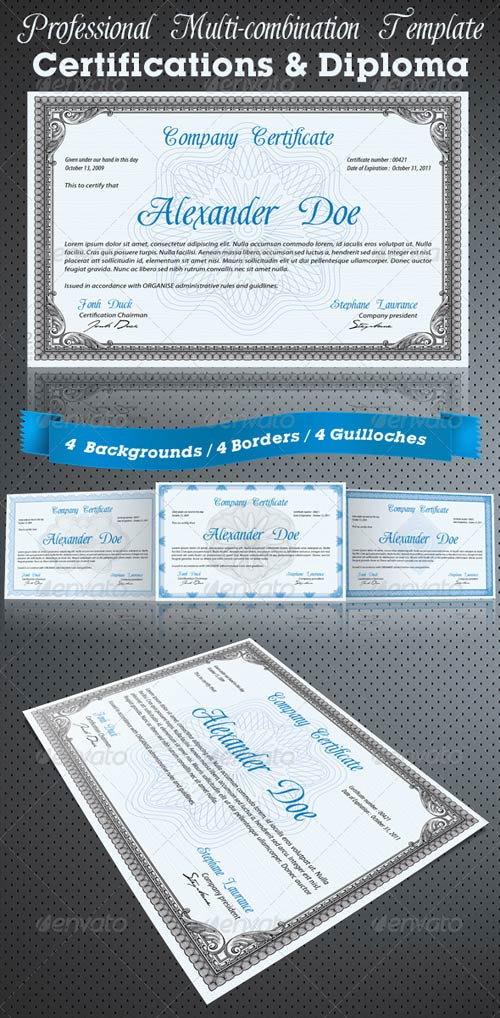 GraphicRiver Professional Certificate or Diploma Templates