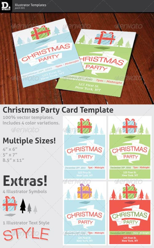 GraphicRiver Christmas Party Card 144910