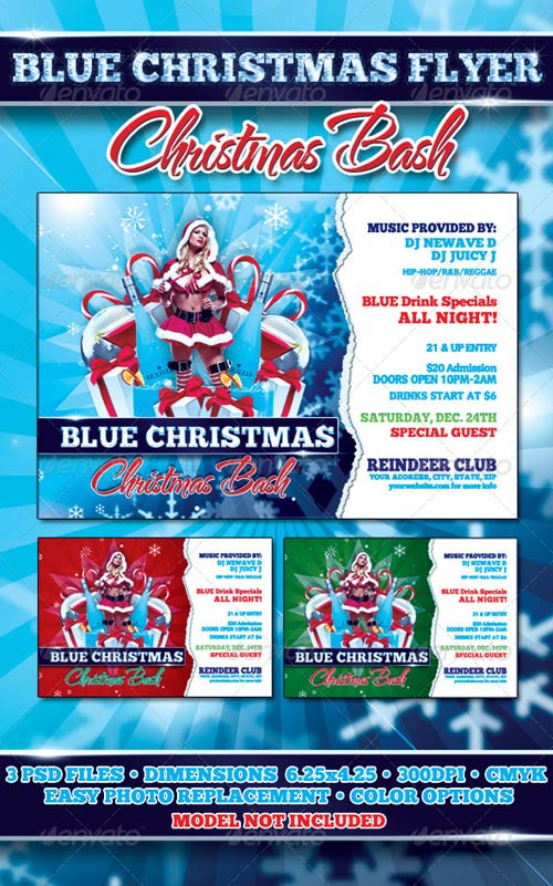 GraphicRiver Blue Christmas Flyer Template