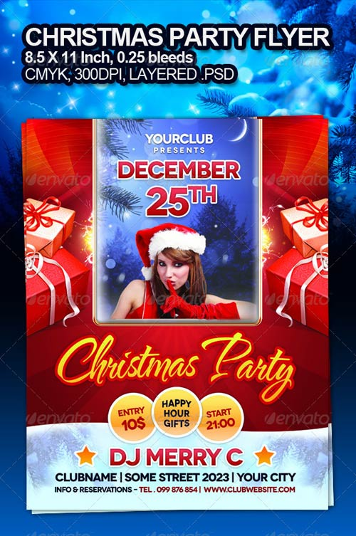 GraphicRiver Christmas Party Flyer 931452