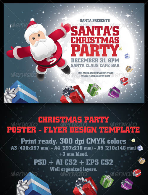 GraphicRiver Santa's Christmas Party Poster & Flyer Set