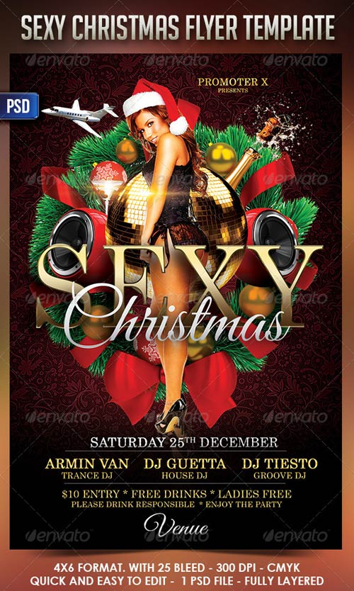 GraphicRiver Sexy Christmas FlyerTemplate