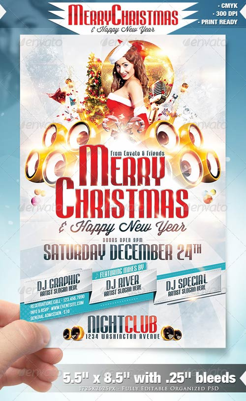 GraphicRiver Merry Christmas Party Flyer