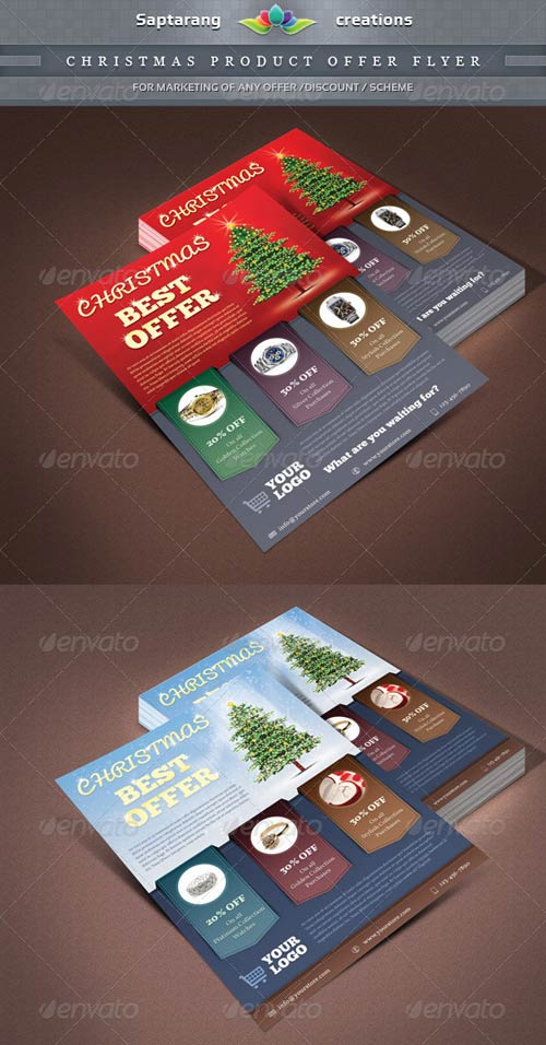GraphicRiver Christmas Product Offer Flyer