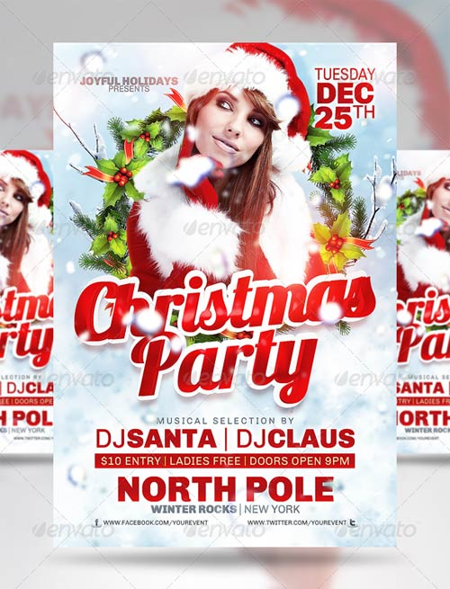 GraphicRiver Christmas Party Flyer 3405314