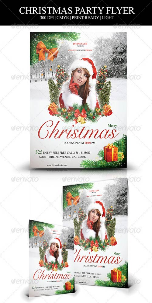 GraphicRiver Christmas Party Flyer 3520965