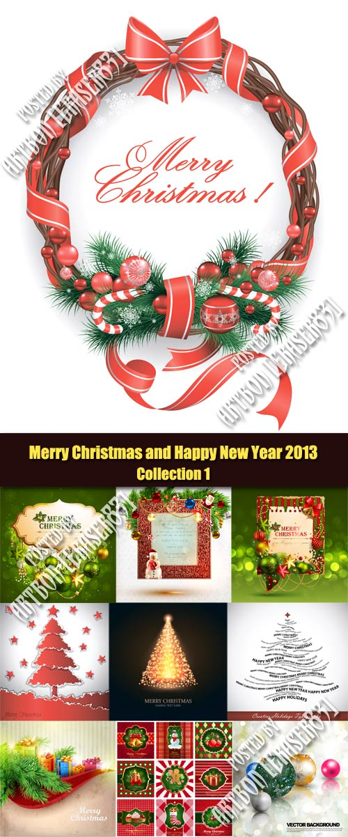 Merry Christmas and Happy New Year 2013 - Collection 1