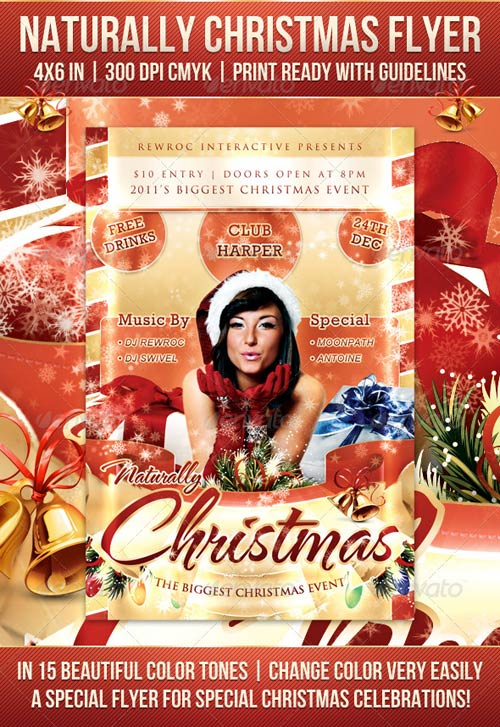 GraphicRiver Naturally Christmas Flyer