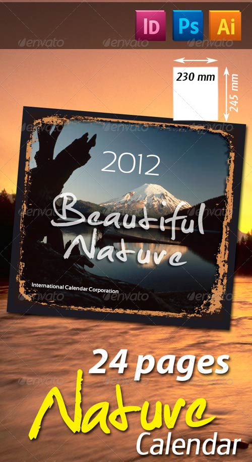GraphicRiver 28 Pages Nature Calendar