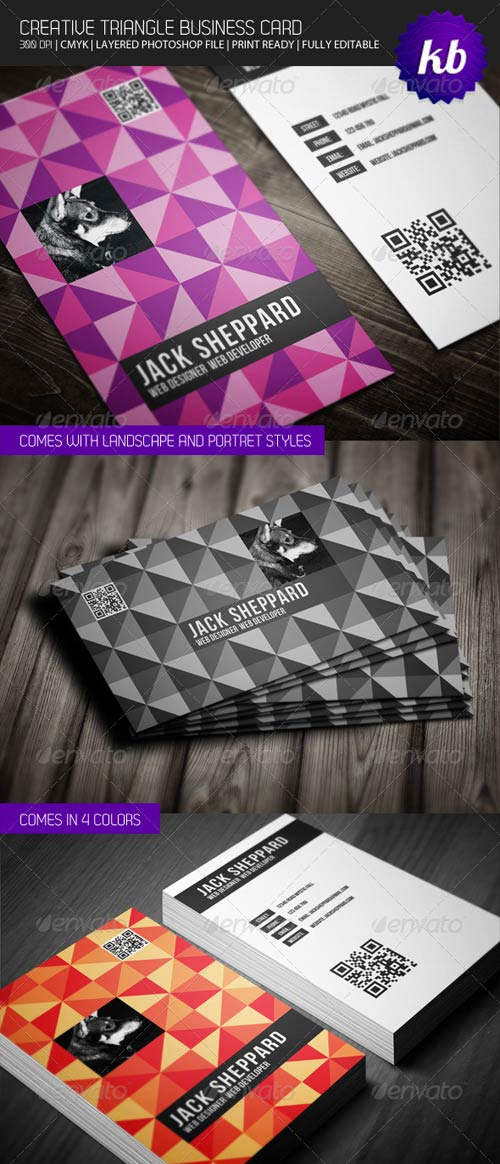 GraphicRiver Creative Triangle Business Card