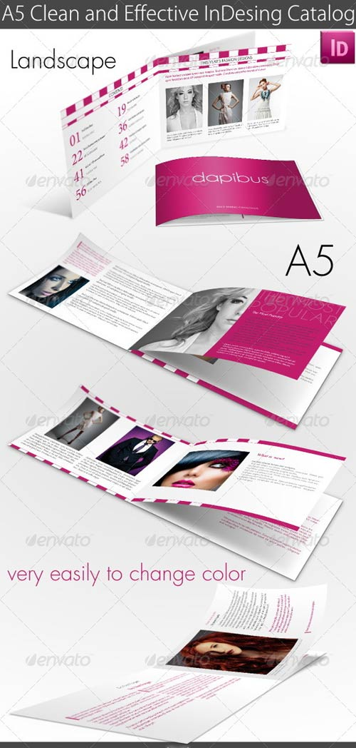 GraphicRiver A5 Clean and Effective InDesing Catalog