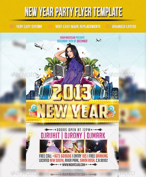 GraphicRiver New Year Party Flyer Template 3574564