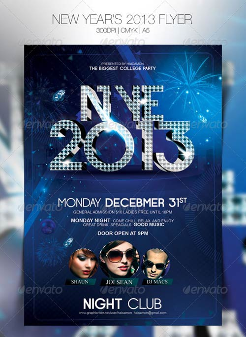 GraphicRiver New Year's 2013 Flyer
