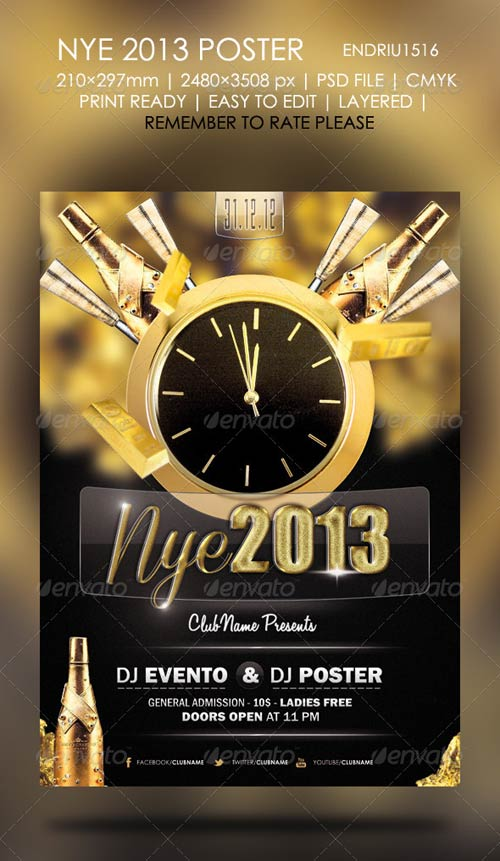 GraphicRiver New Year 2013 Poster