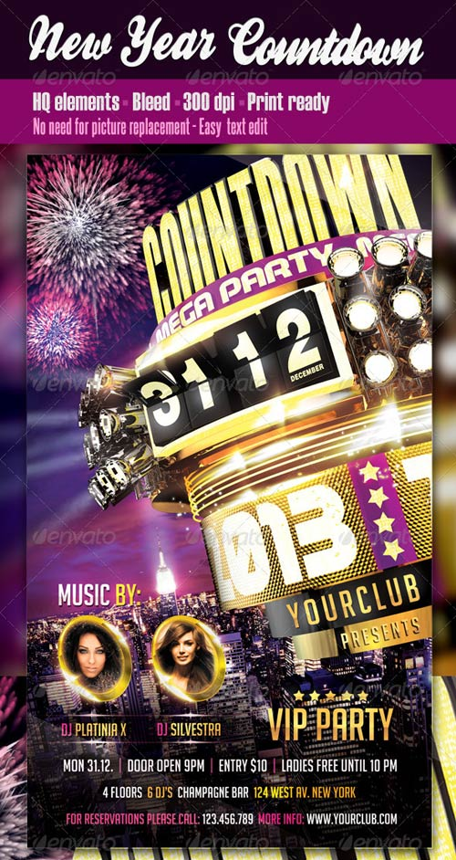 GraphicRiver New Year Countdown Flyer