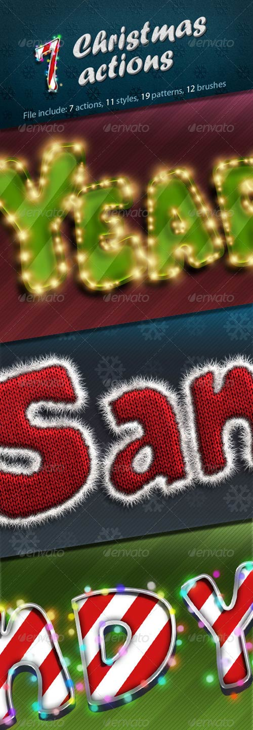 GraphicRiver 7 Christmas Actions