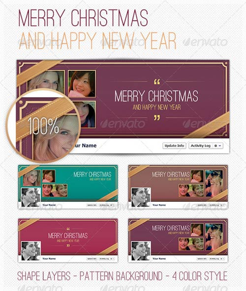 GraphicRiver FB Cover - Happy New Year