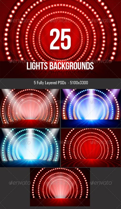 GraphicRiver Lights Backgrounds
