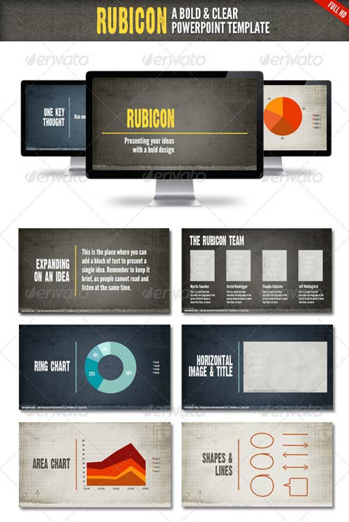 GraphicRiver Rubicon Powerpoint Presentation Template
