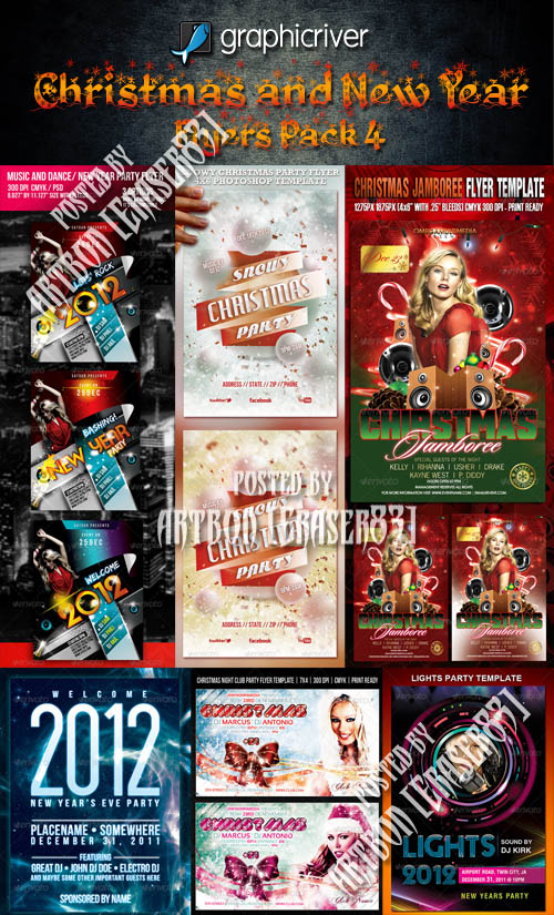 GraphicRiver Christmas and New Year Flyers Collection 4