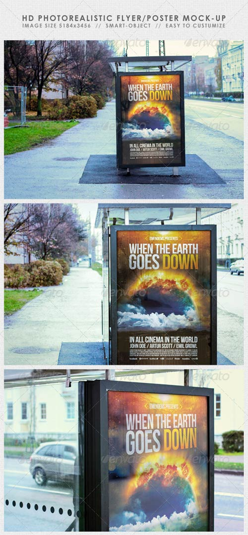 GraphicRiver HD Realistic Flyer/Poster Mock-Up