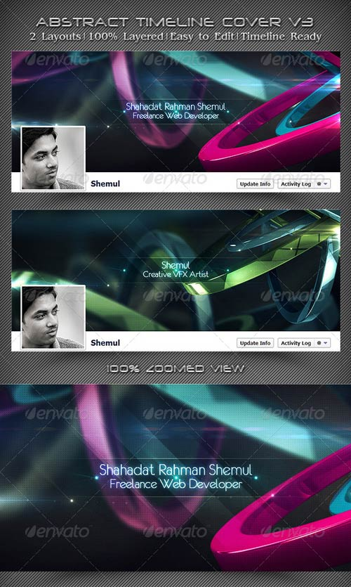 GraphicRiver Abstract Timeline Cover V3