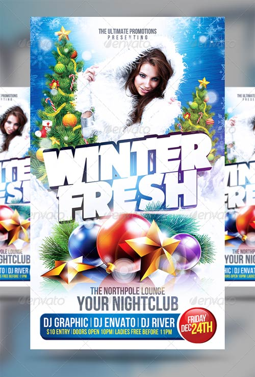 GraphicRiver Winter Party Flyer