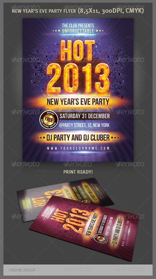 GraphicRiver Hot New Year Party Flyer