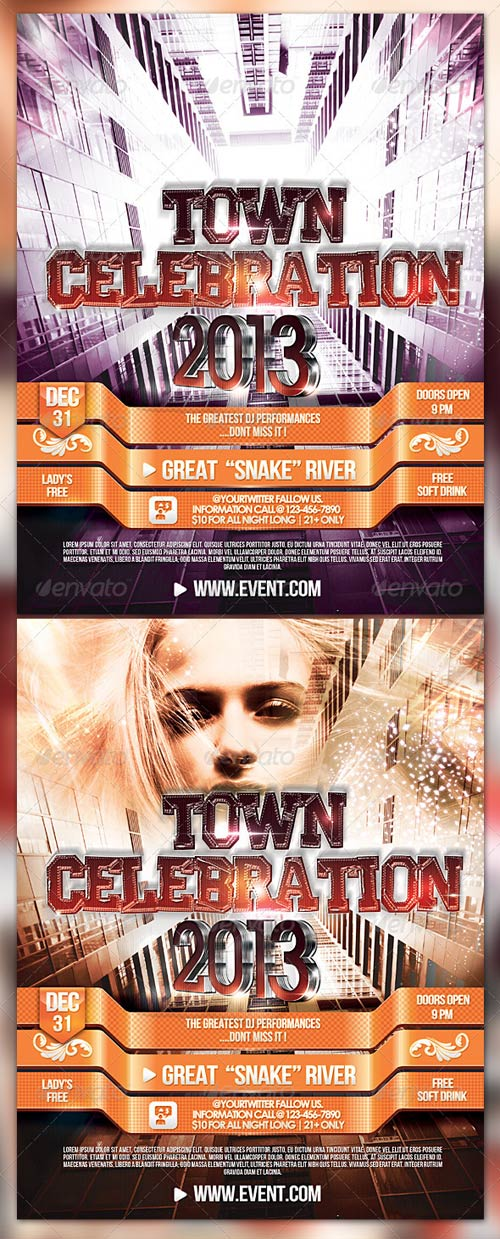 GraphicRiver Town Celebration 2013 Flyer