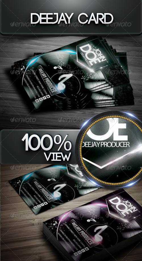 GraphicRiver Deejay Card