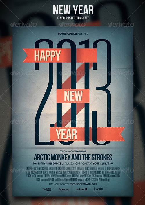 GraphicRiver New Year Flyer / Poster 3528405