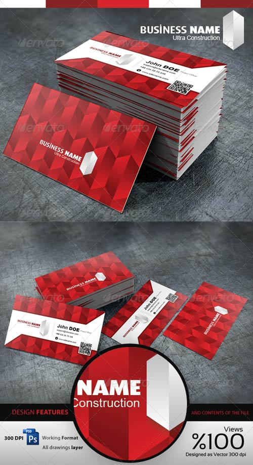 GraphicRiver Construction - Business Cardvisid