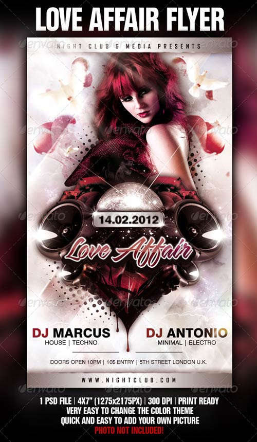 GraphicRiver Love Affair Flyer Template