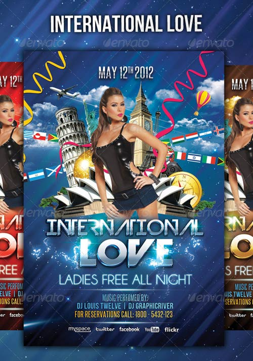 GraphicRiver International Love - Flyer Template