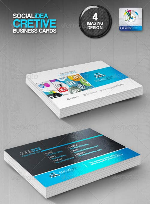 GraphicRiver Socialidea Creative Social Media Business Cards
