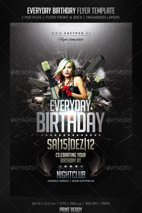 Everyday Birthday Flyer