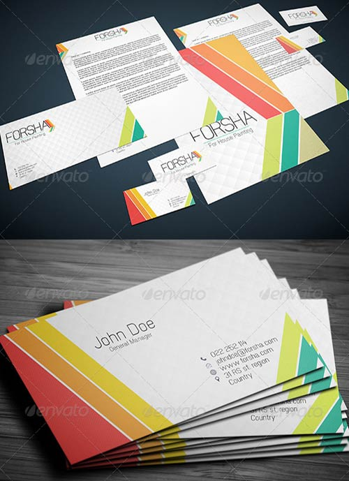 GraphicRiver Stationary & Identity: Forsha