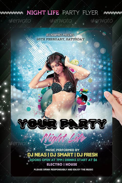 GraphicRiver Nightlife Party Flyer Template