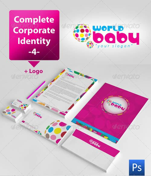 GraphicRiver World Baby Corporate Identity Package