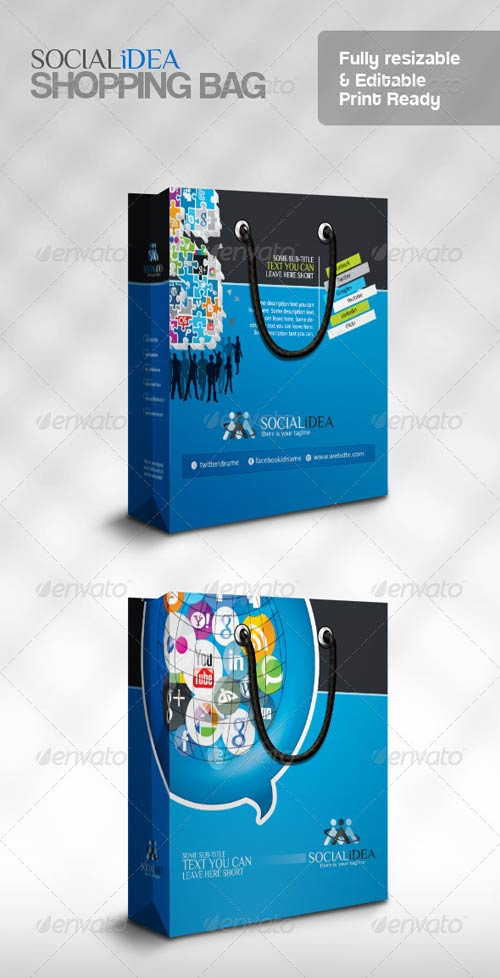 GraphicRiver Socialide Multipurpose Social Media Shopping Bag