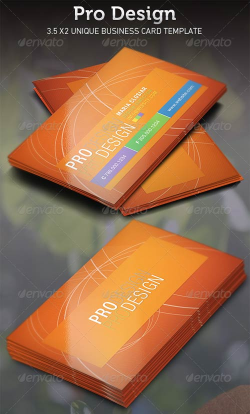 GraphicRiver Pro Design Business Card Template