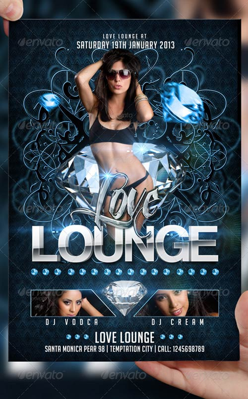 GraphicRiver Love Lounge Flyer Template